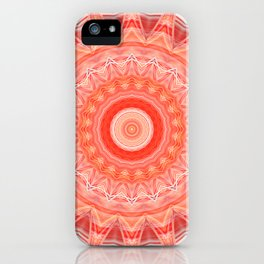 Mandala soft orange 3 iPhone Case