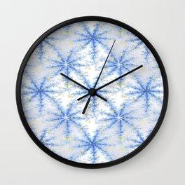 Snow Flakes Design Wall Clock
