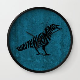 The three-eyed crow Wall Clock