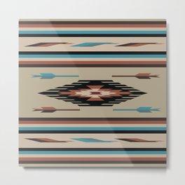 American Native Pattern No. 74 Metal Print
