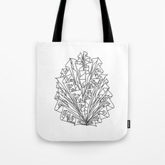 flame line art - white Tote Bag