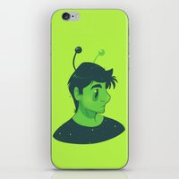 mulder iPhone & iPod Skins featuring Spooky Mulder by Sutexii