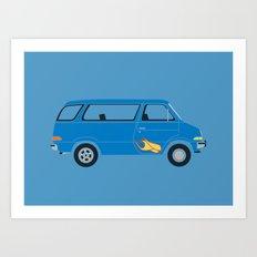 Wayne's Van Art Print