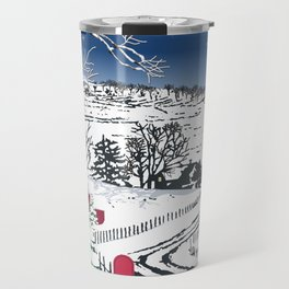 Silent Winter Night Silhouette Travel Mug