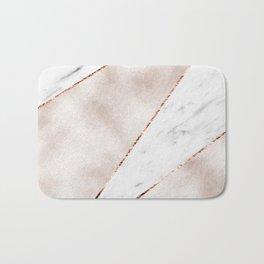 Spliced rose gold marble Bath Mat
