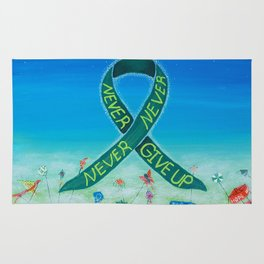 Kidney Disease Awareness, Never, Never, Never Give Up Rug