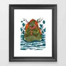 Cookie Swamp Monster Framed Art Print