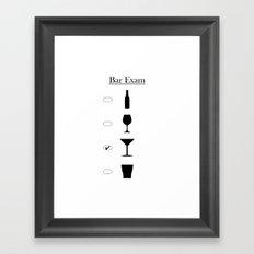 Bar Exam: Martini Framed Art Print