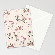 Scattered Floral on Cream Stationery Cards