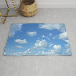 Blue sky and clouds Rug