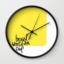 Brazil World Cup 2014 - Poster n°3 Wall Clock