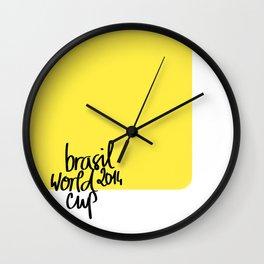 Brazil World Cup 2014 - Poster n°3 Wall Clock