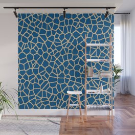 staklo (dark blue with coffee) Wall Mural