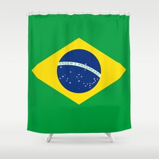 Brazilian National flag Authentic version (color & scale) Shower Curtain