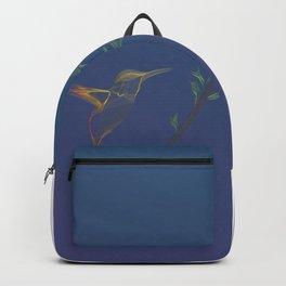 Line Art Flyin hummingbird bird nature wildlife flowers gradient background Backpack