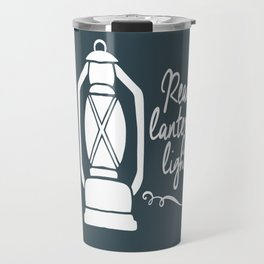 Read By Latern Light - Green Travel Mug