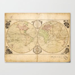 World Map by Carington Bowles (1791) Canvas Print
