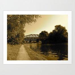 Bridge over the Water  Art Print
