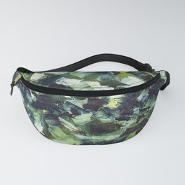 Modern Green and Blue Abstract Painting Fanny Pack