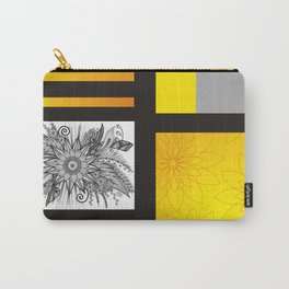 Sunflower Doodle on bright bold background Carry-All Pouch
