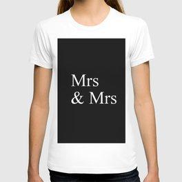 Mrs & Mrs Monogram T-shirt