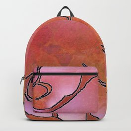 Cargiver Hands Harmony Pink and Orange Backpack