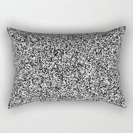 Spacey Melange - White and Black Rectangular Pillow