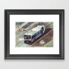 bus number 26 Framed Art Print