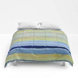 Colorbands Daylight Blue and Yellow Comforters