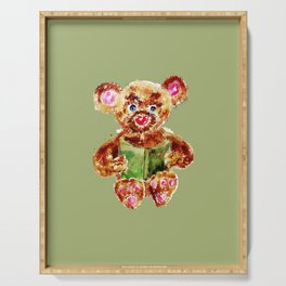 Painted Teddy Bear Serving Tray