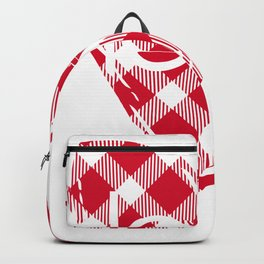 Plaid Love Heart Backpack