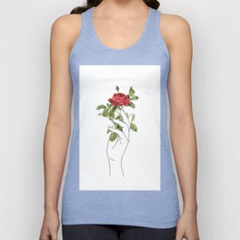 Flower in the Hand Unisex Tank Top