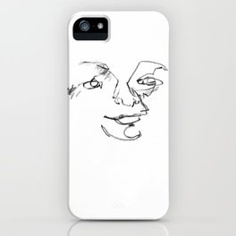 Happy Blind Drawing iPhone Case