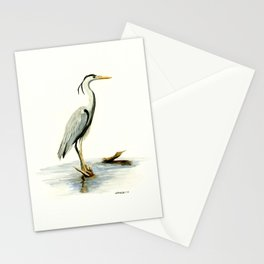 Blue Heron - watercolor bird, home decor, nursery wall art Stationery Cards
