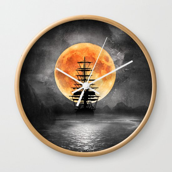 From the moon Wall Clock