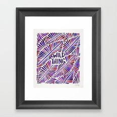 Wild Thing – Indigo Palette Framed Art Print