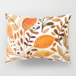 Autumn watercolor leaves Pillow Sham