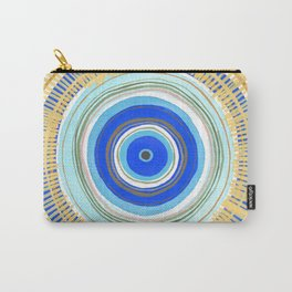 Turquoise Evil Eye Mandala Carry-All Pouch