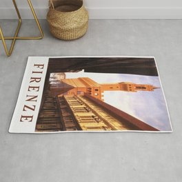 Vintage Florence Italy Travel Rug