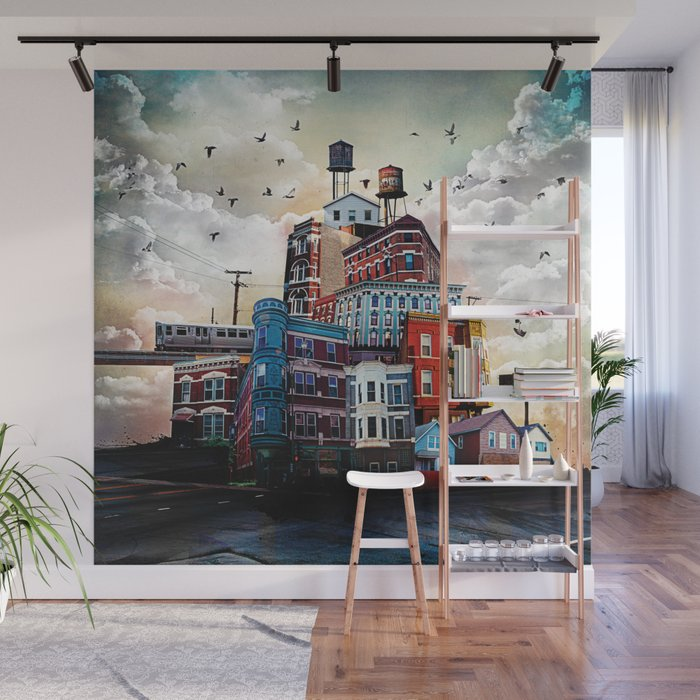 Urban Perspective Wall Mural By Timjarosz Society6