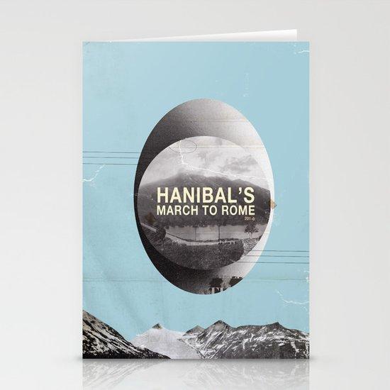 Hanibal's march to rome - http://matthewbillington.com Stationery Cards
