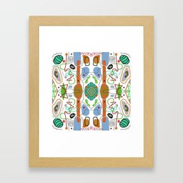Multi Colored Line And Shape Abstract Pattern Framed Art Print