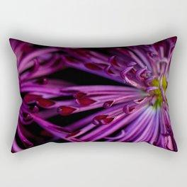 Purple & Black Rectangular Pillow