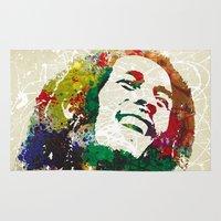 reggae Area & Throw Rugs featuring Reggae Music Man by Gary Grayson