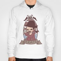 pirate Hoodies featuring Pirate by Jelot Wisang
