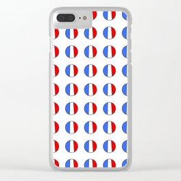 Flag of France 15- France, Français,française, French,romantic,love,gastronomy Clear iPhone Case