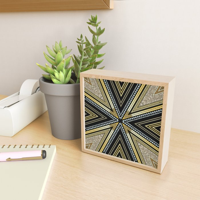 Glam Cross Star Framed Mini Art Print