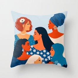 Worldwide Women Throw Pillow