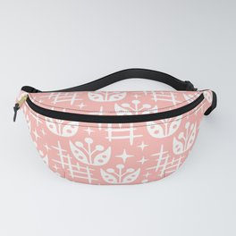 Mid Century Modern Abstract Flower Pattern 2 Peach Fanny Pack