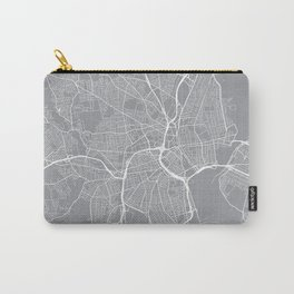 Providence Map, Rhode Island USA - Pewter Carry-All Pouch